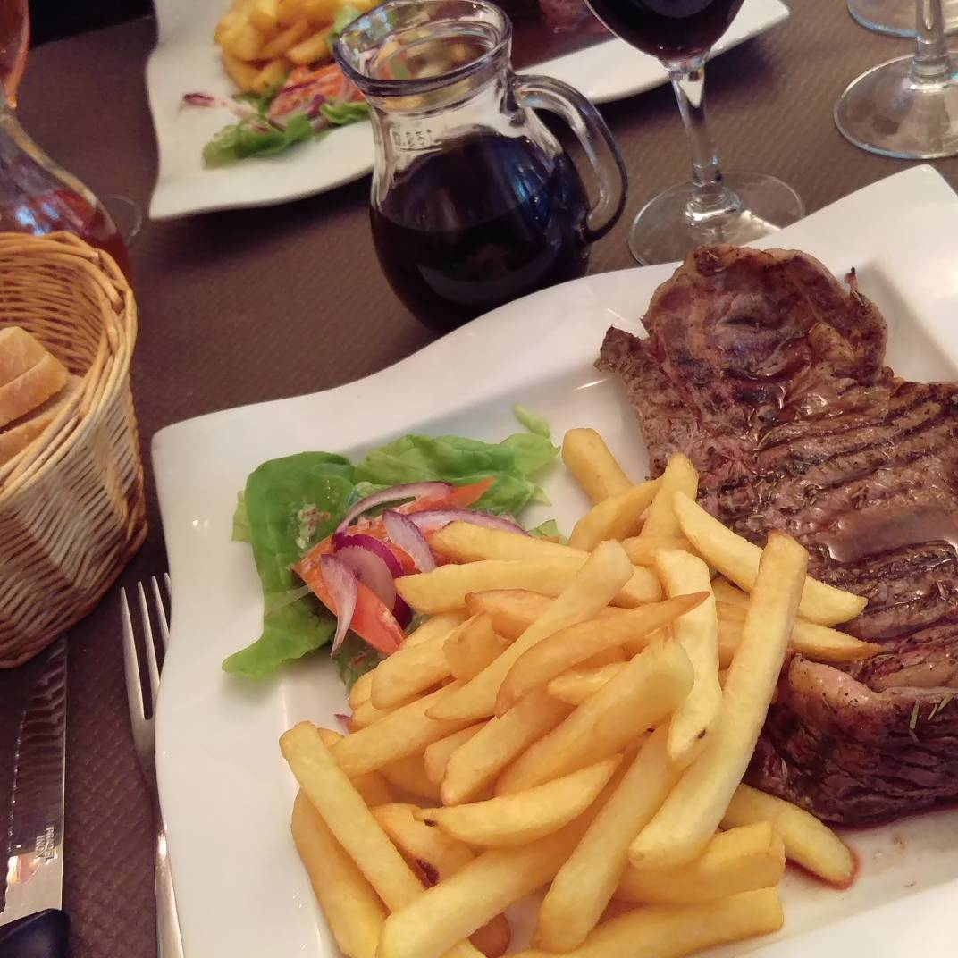 When in France... #france #food #restaurant #steakfrites